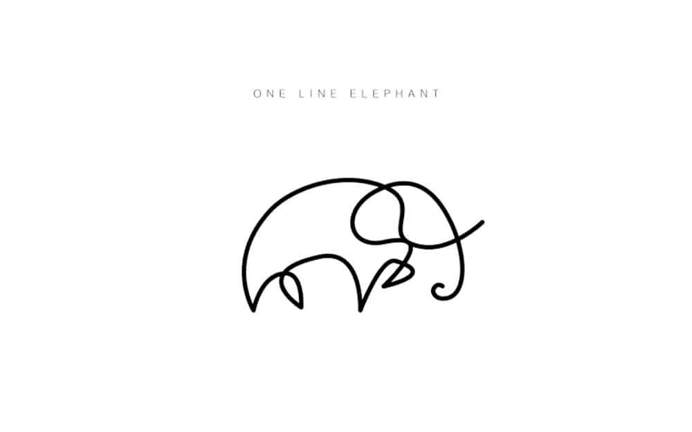 desenhos-minimalistas-animais-differantly-elefante