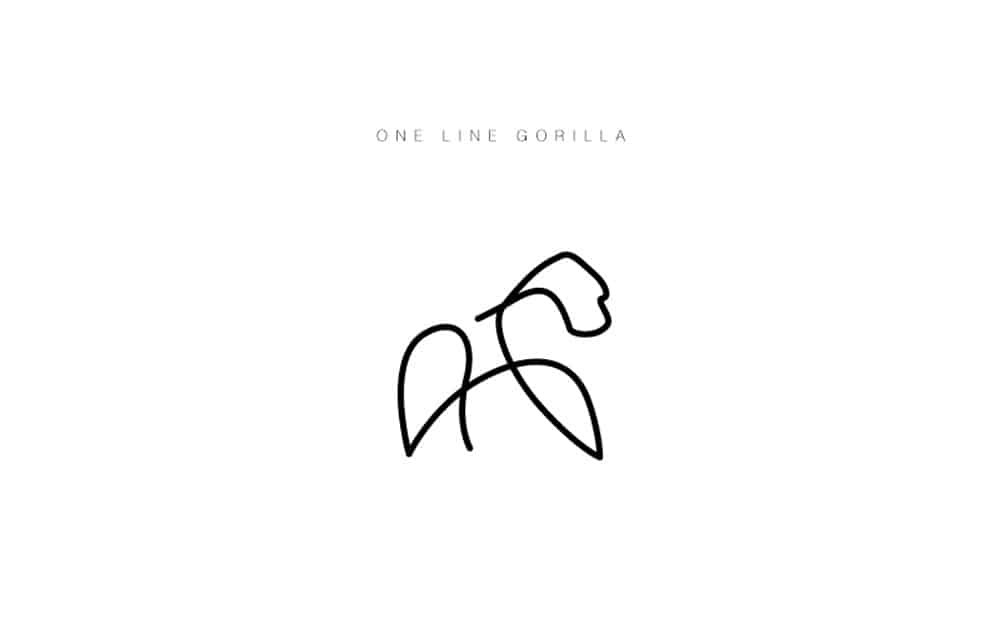desenhos-minimalistas-animais-differantly-gorila