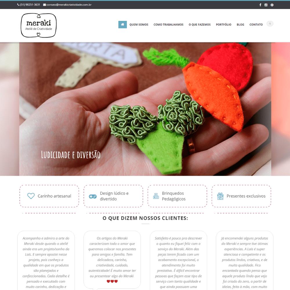 Site Meraki Criatividade